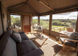 Hlosi Luxury Safari Tent Lounge