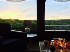 Bukela Game Lodge Tent Evening