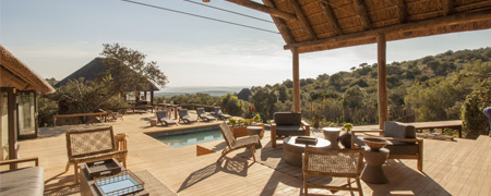Bukela Game Reserve Deck Pool View